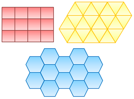 Hexagon tessellation patterns for Tessellating shapes templates